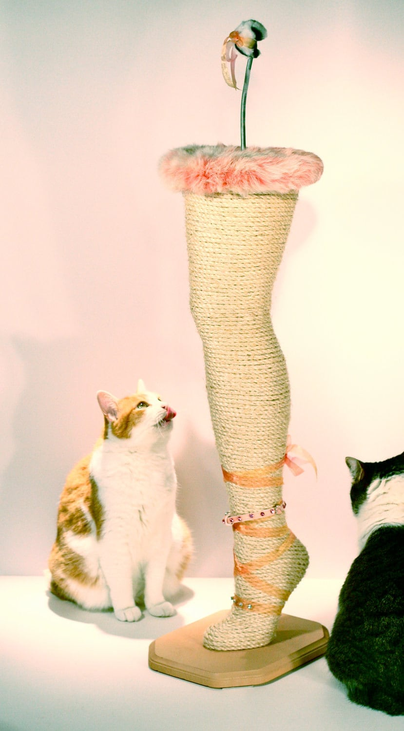 Mannequin Leg Cat Scratching Post Kitty By