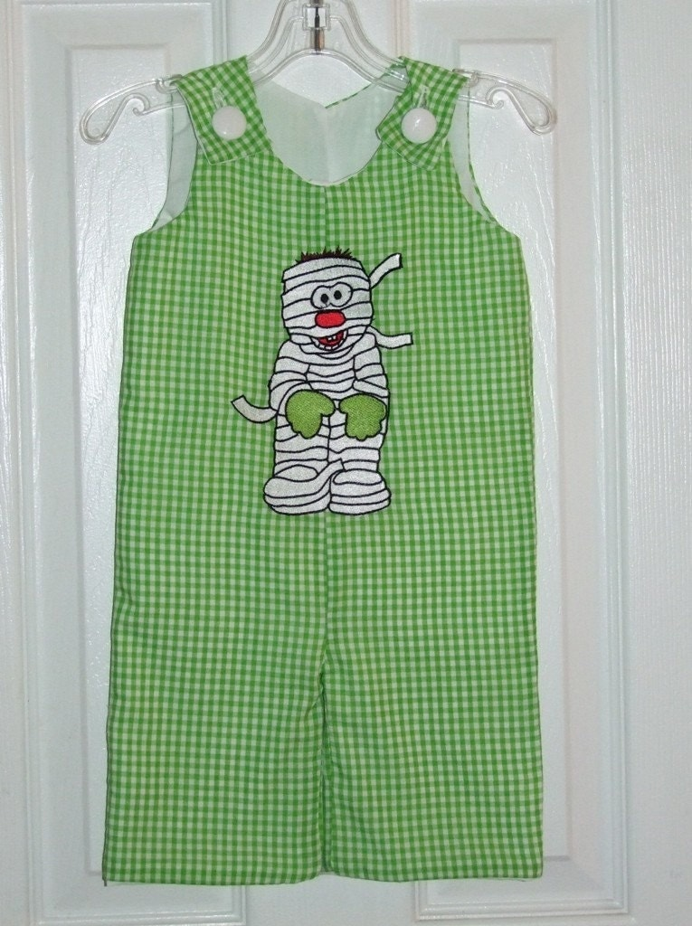 Custom Handmade Boy's Halloween Mummy Longalls