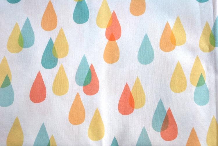 las gotas de lluvia - cuarto gordo tela - original - la lluvia