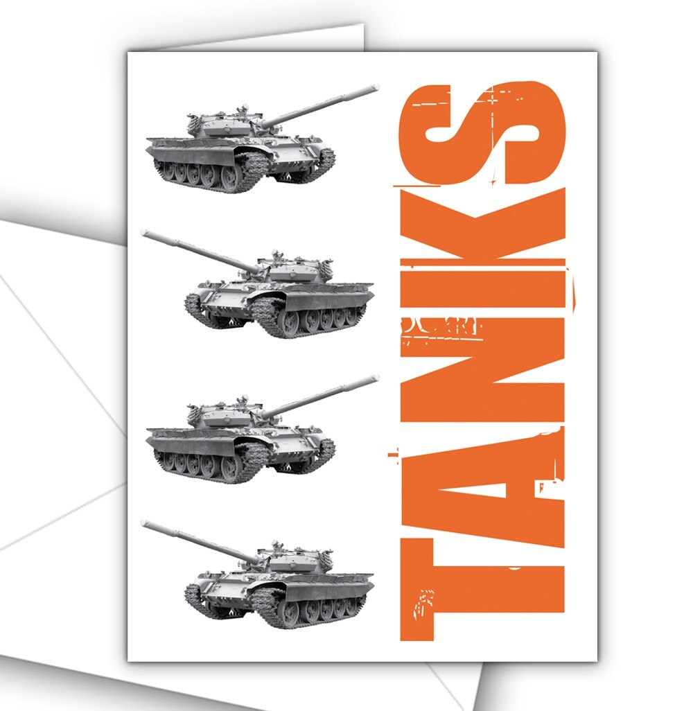 Tanks Thank You Cards  10 pack by theRasilisk on Etsy from etsy.com