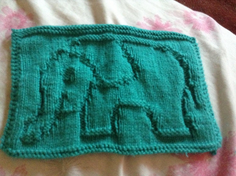 Items similar to Elephant Cloth Knitting Pattern PDF on Etsy