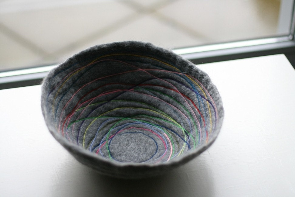 Prisma  Handfelted Bowl by reyaveltman on Etsy from etsy.com