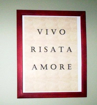 Italian Live Laugh Love By Amorevivo On Etsy