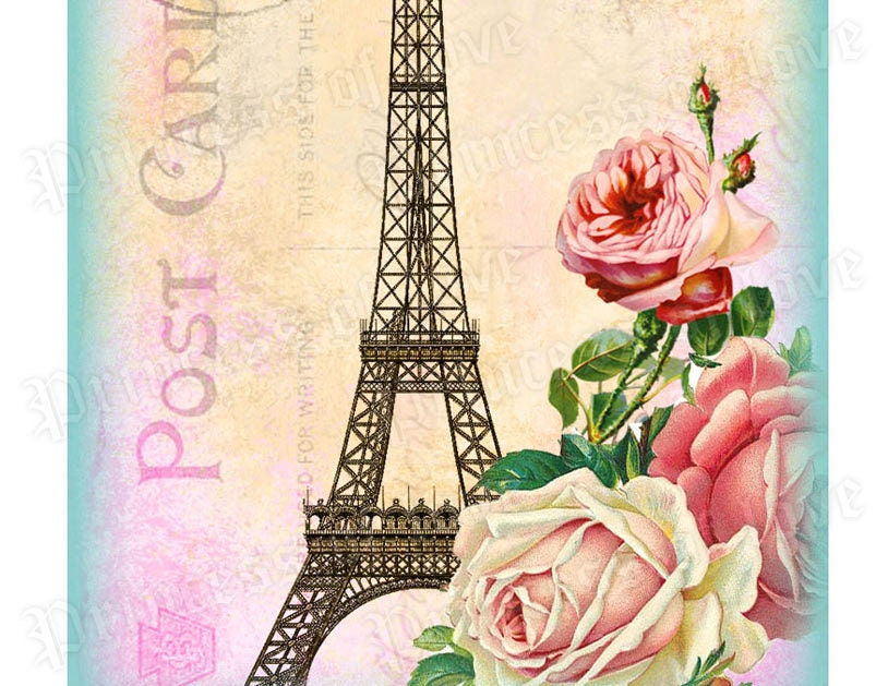 9 eiffel tower romantic paris  french greeting by