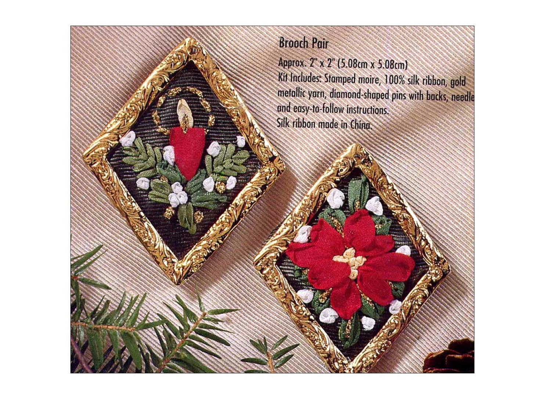 Bucilla christmas silk ribbon embroidery kit by