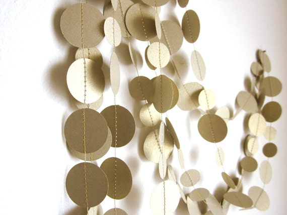 Gold Garland - Christmas Garland - New Years Garland - Circle Garland - Festive Garland - ArtsDelight