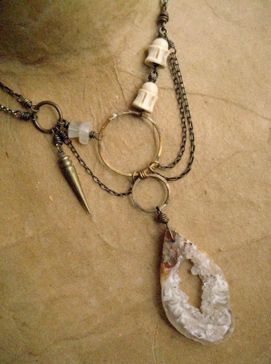 Mandala Triad Steampunk Pendant Necklace v.2