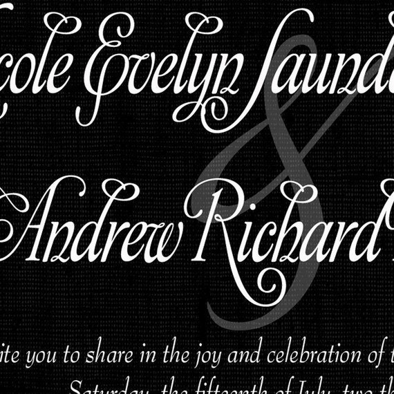 Elegant Scroll Wedding Invitation / by missbellaexpressions