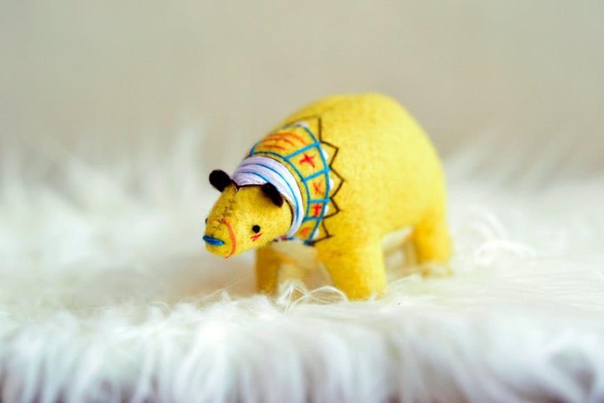 sun harvest spirit bear - soft sculpture