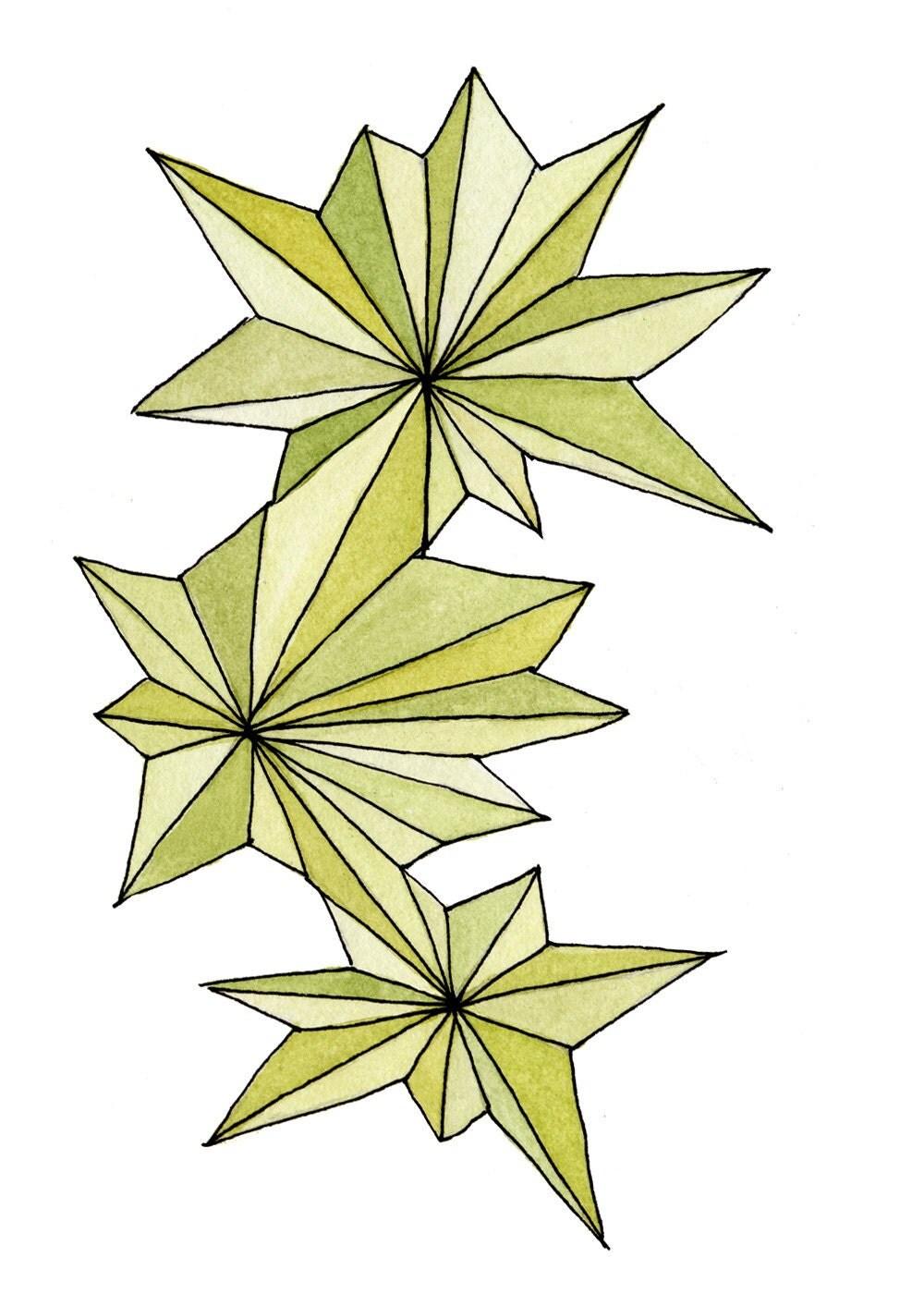 Green Burst - 5x7 Print
