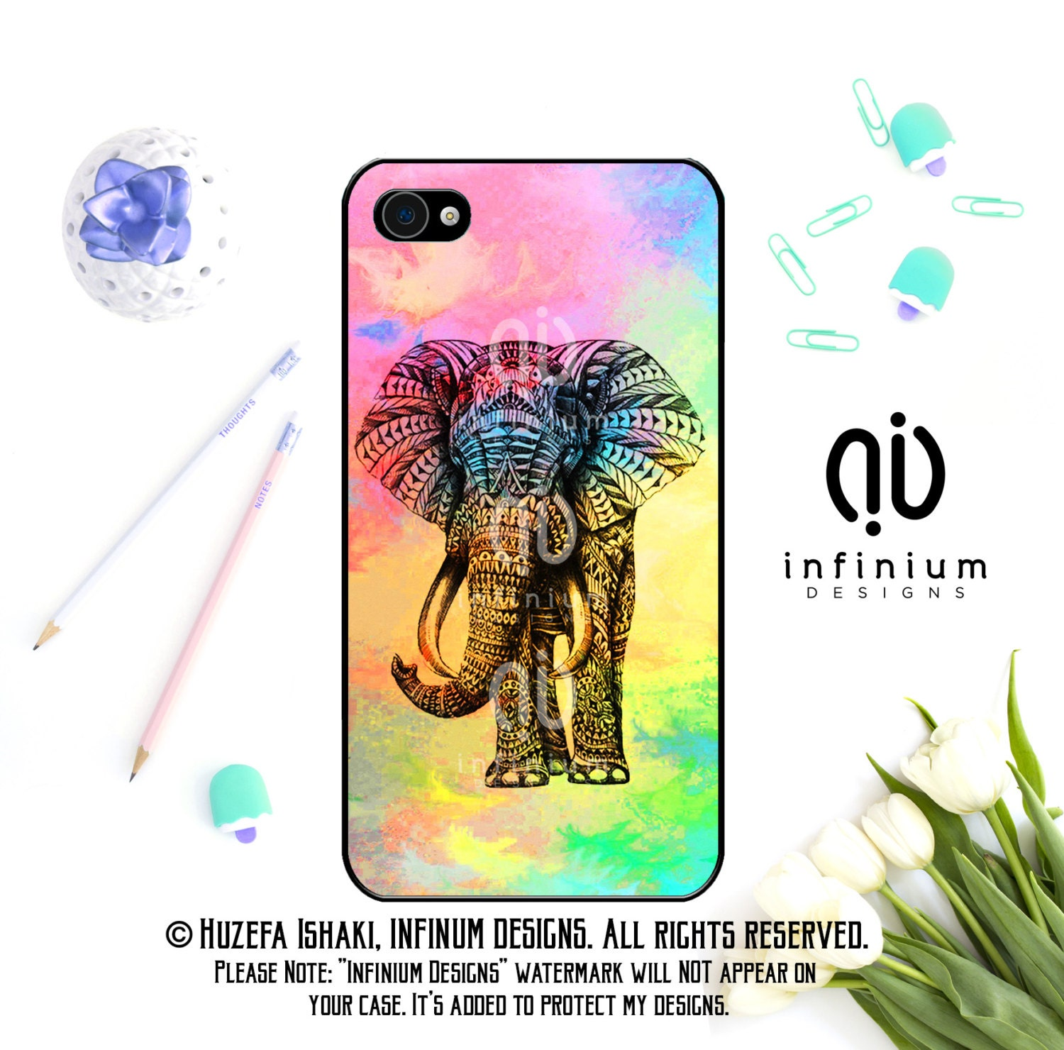 Tribal Elephant Case For iPhone 6S iPhone SE iPhone 5 iPod Touch 6 iPhone 6 PLus iPhone 6 iPhone 5S  iPhone 5C Case