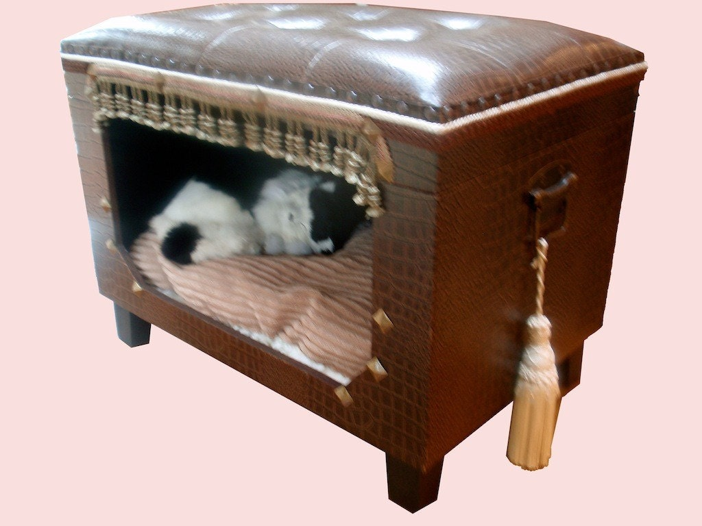 on sale pet bed for small dog or cat brown by coolfunkygifts. Black Bedroom Furniture Sets. Home Design Ideas