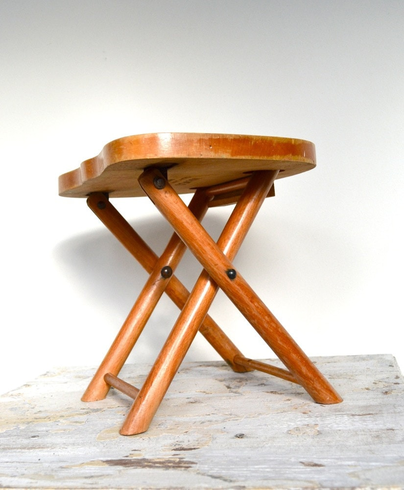 Reserved Small Wood Folding Stools Nevco Yugoslavia By