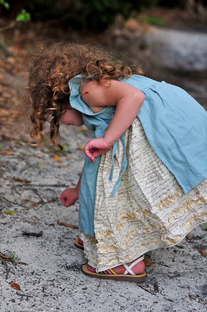 Shabby Chic Girls Dress Childrens Clothing by CoralBelles