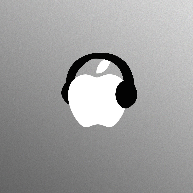 Black Headphones Laptop Sticker for Apple MacBook  Pro  Air