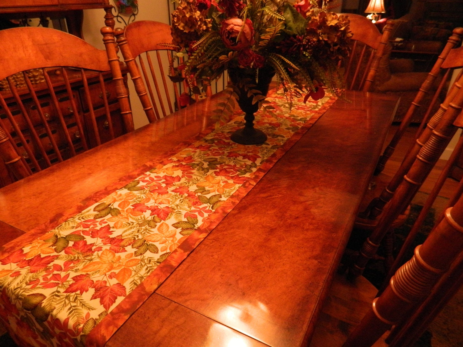 Fall etsy runner table  to Table Items on similar Thanksgiving Etsy Runner Leaves