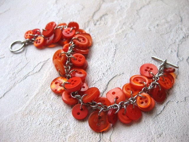 Pumpkin Patch Button Bracelet