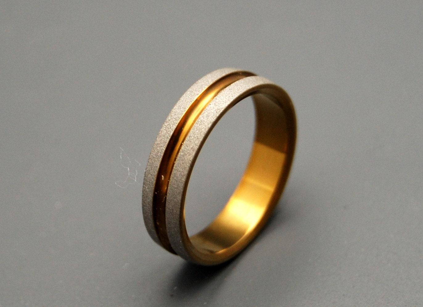bold as bronze titanium wedding bands by