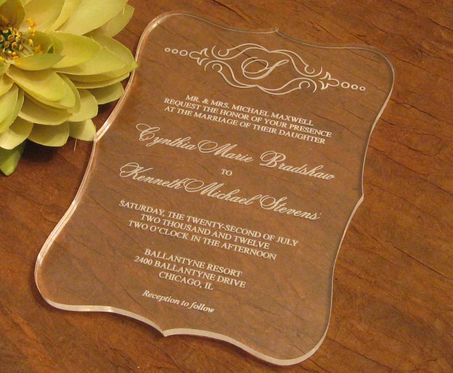 What would you bees think about an acrylic invitation