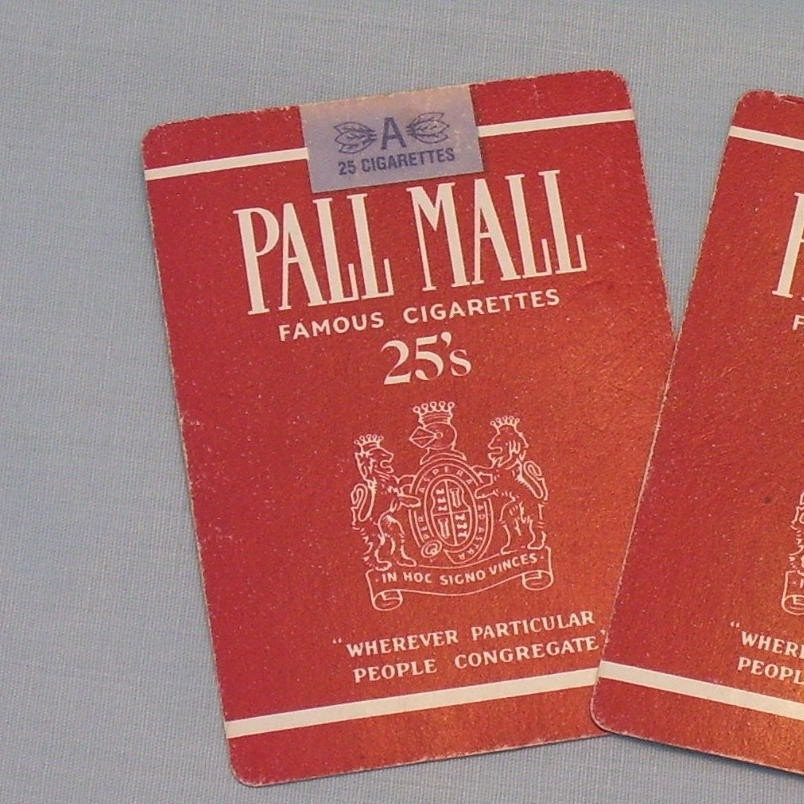 PALL MALL CIGARETTE Playing  about 1985