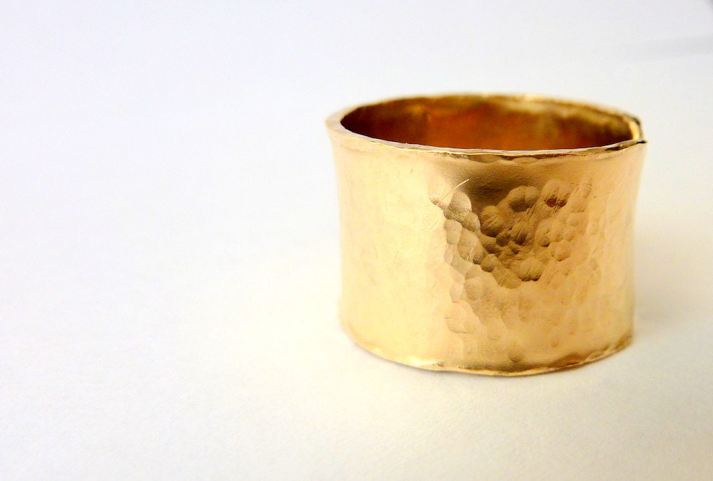 13mm wide gold ring gold filled band ring by venexiajewelry