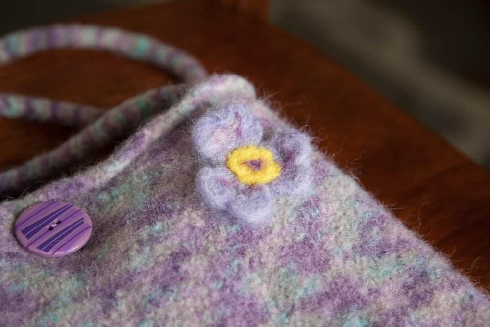 Felted Lavender Spring Bag
