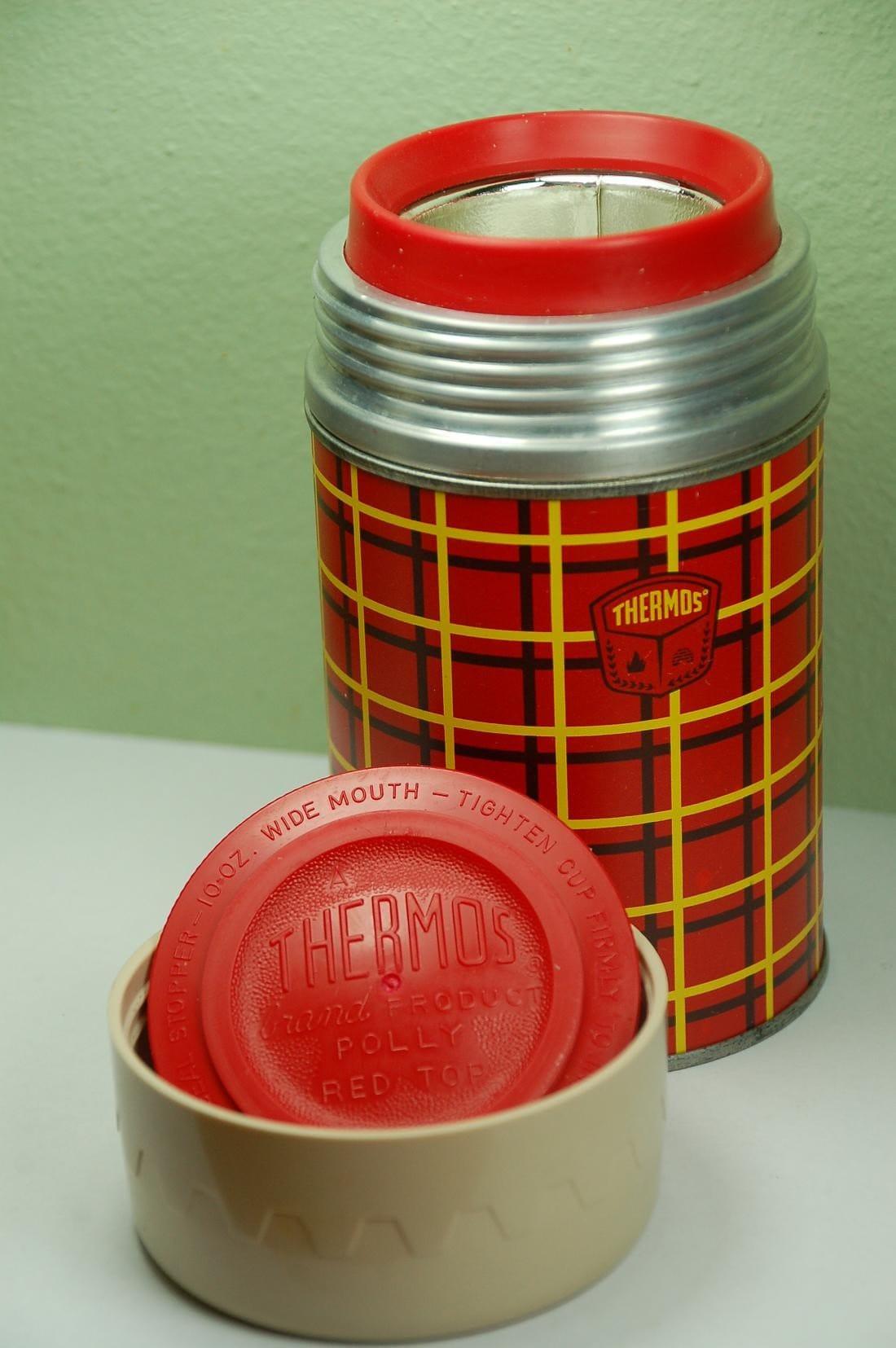 vintage metal thermos