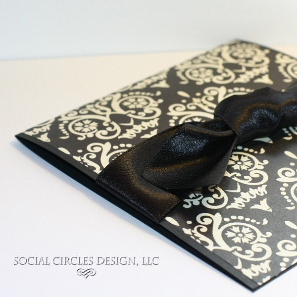 Black Damask Wedding Set