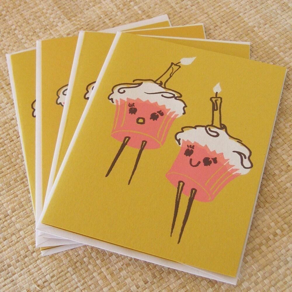 cupcake birthday cards