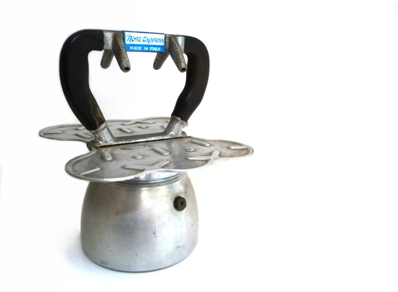 Italian Coffee Maker Aluminum : Vintage italian aluminum coffee maker Nova by madlyvintage