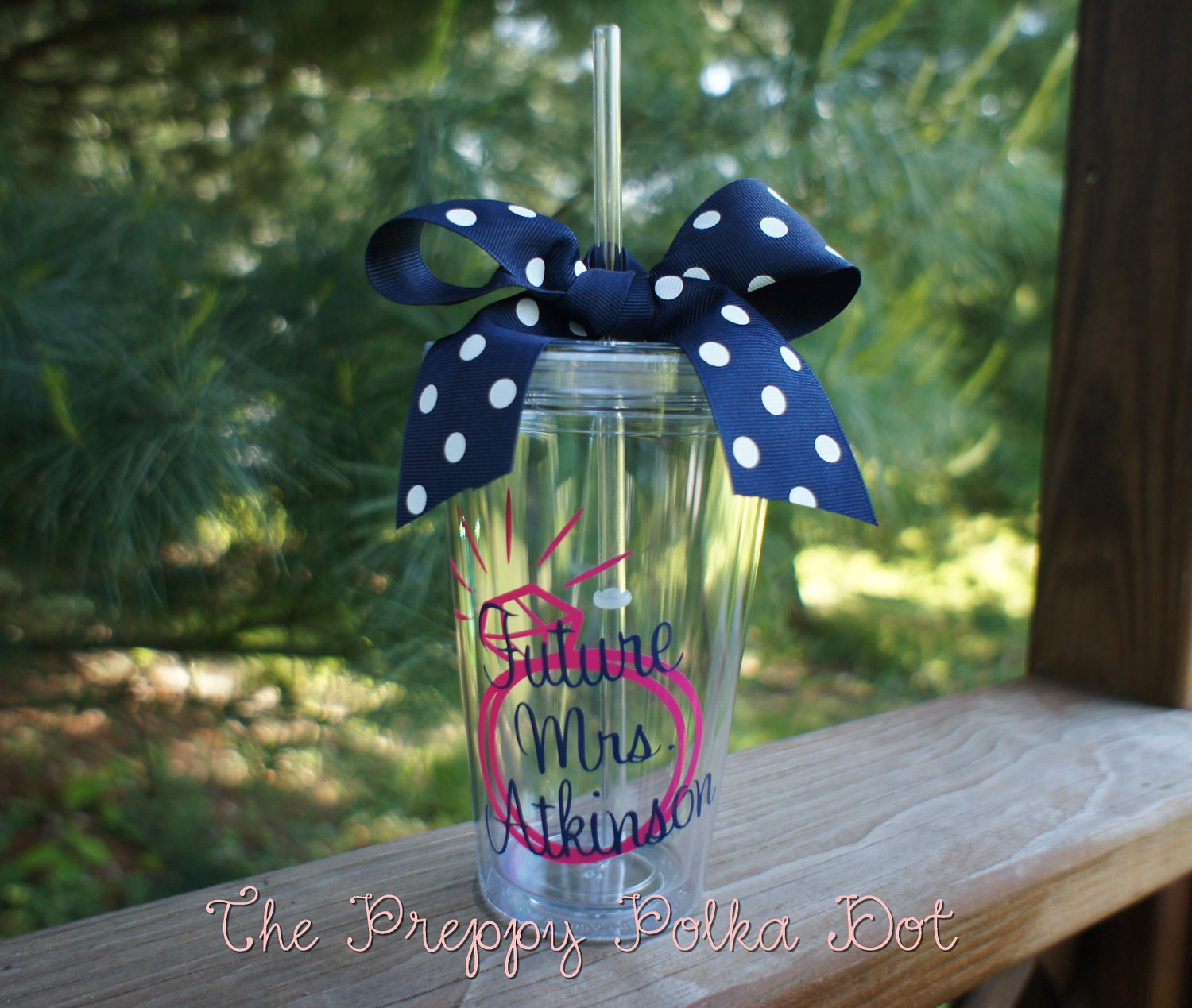 Future Mrs Personalized 16oz Straw Cup