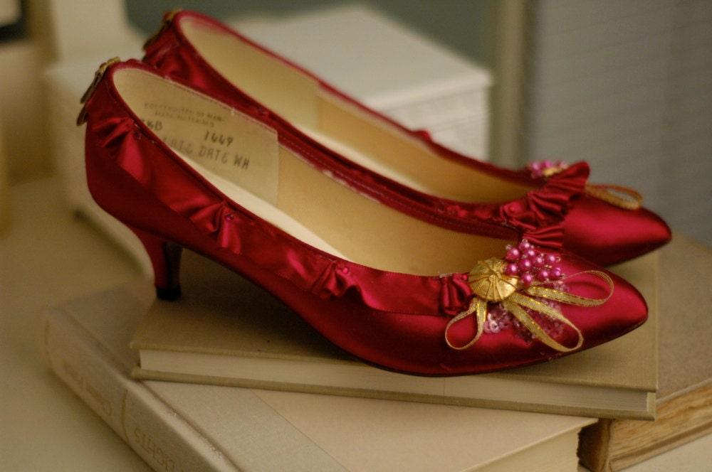 Leafield Marie Antoinette Hot Pink Heels