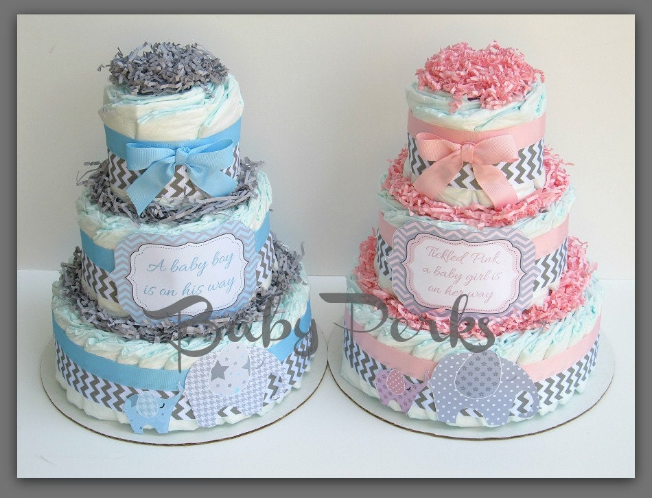 baby of mine diaper cake pink and grey baby shower by msperks