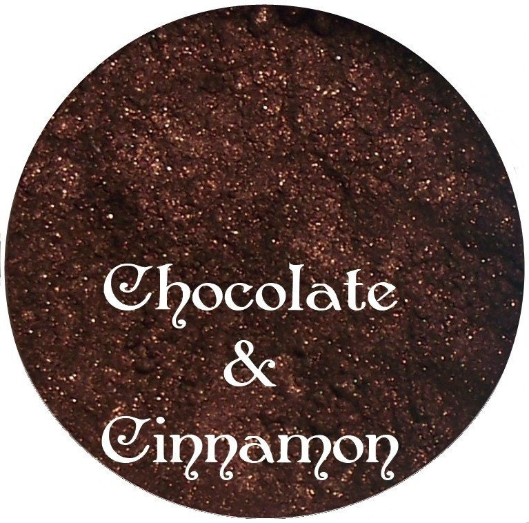 Chocolate and Cinnamon Dark Brown Mineral Eyeshadow pigment 3 gr jar