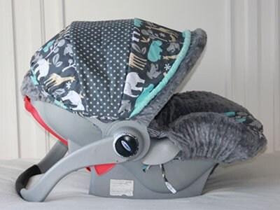 Items Similar To Aqua Elephant Warm Soft Animal Print Baby