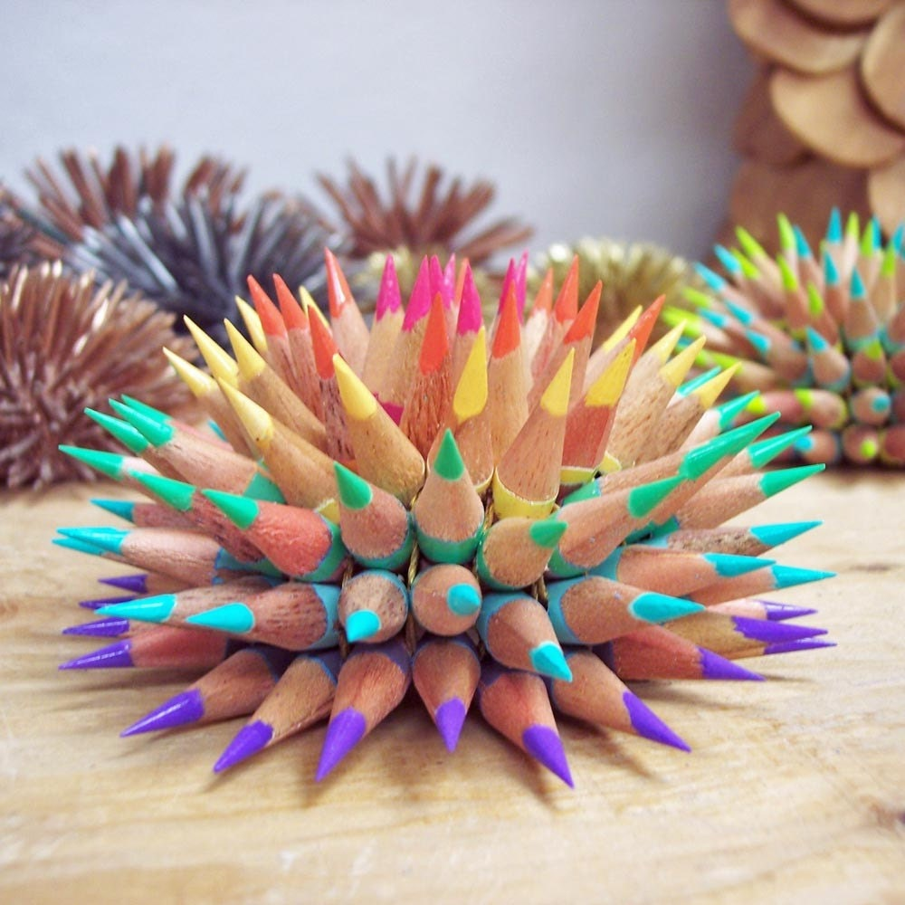 Pastel Rainbow Pencil Urchin
