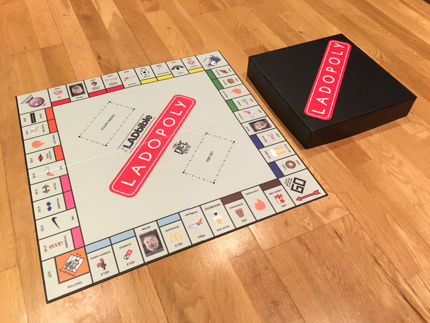 LADOPOLY custom board game (as seen on theLADbible)