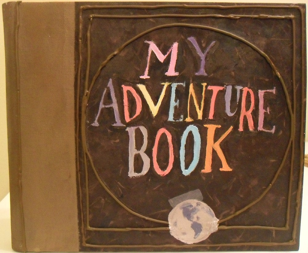 My Adventure Book Printable Cover : Inside my head up themed party