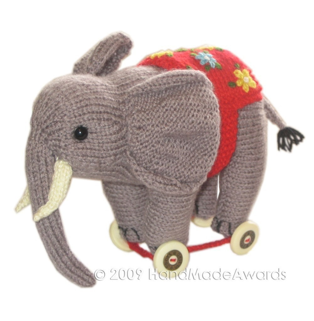ELEPHANT on WHEELS PDF Email KNIT PATTERN