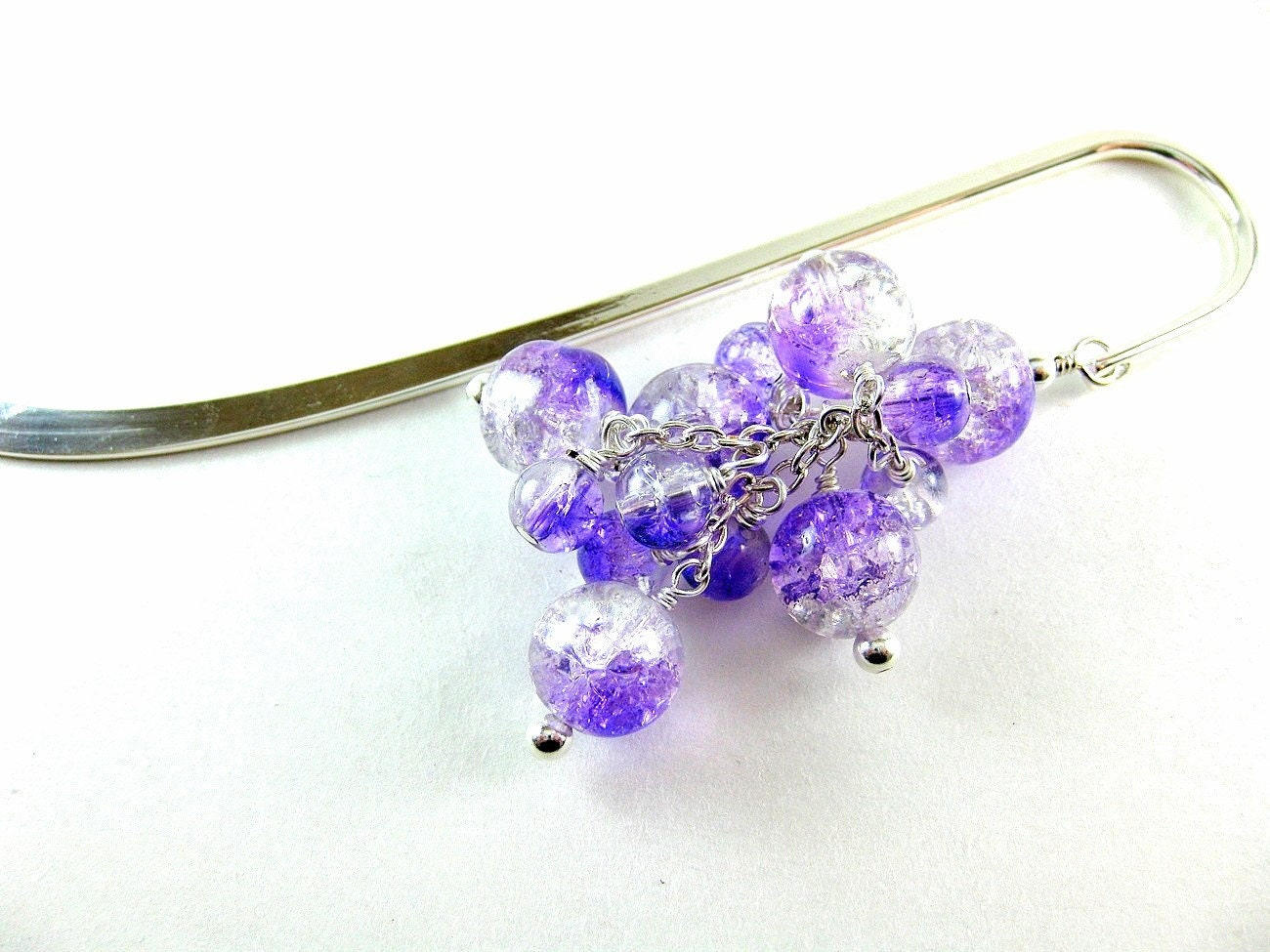 Iced Grapes Cracked Glass Bead Bookmark