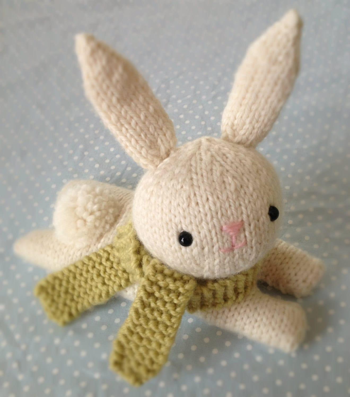 Etsy Amigurumi Bunny : Amigurumi Pattern Knit Bunny Pattern Digital Download by ...