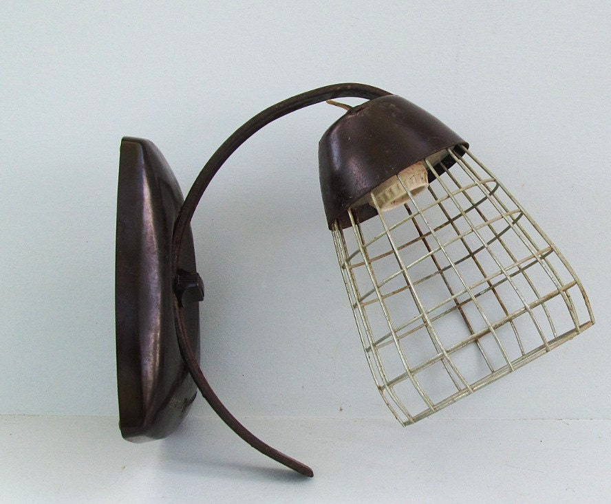 vintage art deco antique light fixture general electric heat lamp. Black Bedroom Furniture Sets. Home Design Ideas