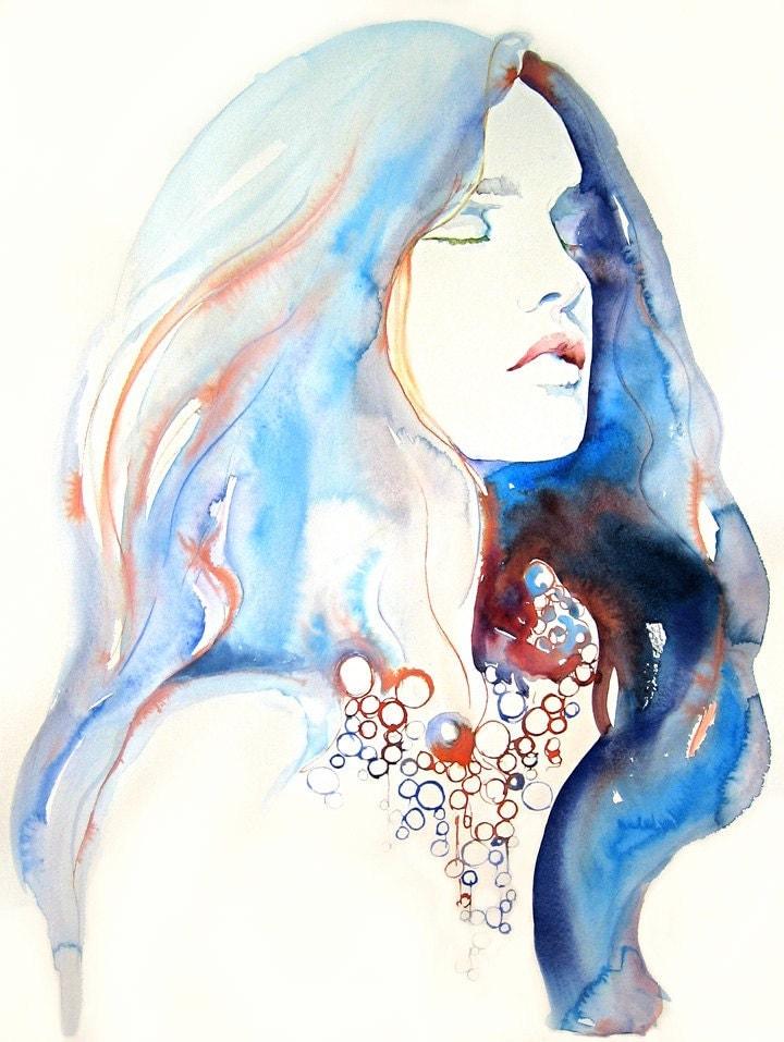 Conosciuto Il mondo di Mary Antony: Le illustrazioni di moda ad acquerello di  ZI17