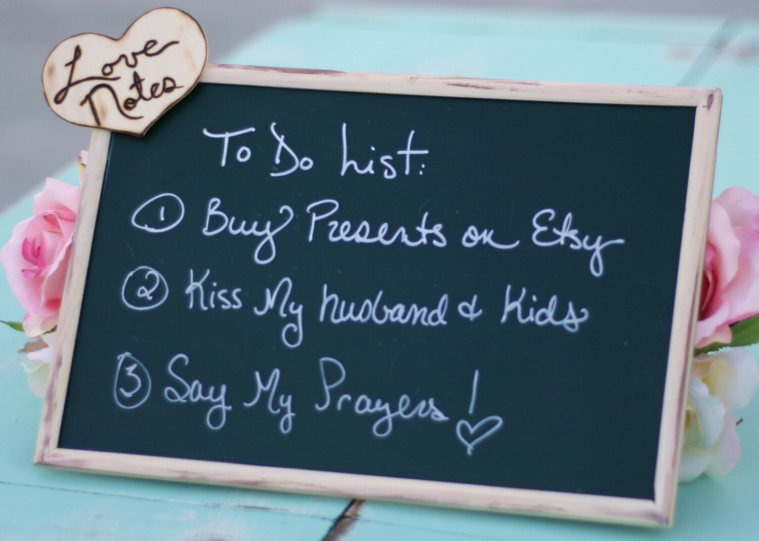 Personalized Farmhouse Cottage Love Notes Chalkboard Memo Board Rustic Woodland Engraved Wood Eco Friendly Bridal Shower Gift Affordable and CHIC Wedding Sign Photo Booth Prop