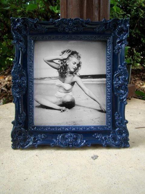 navy blue ornate vintage style picture frame 5x5 5 by nicolesuder. Black Bedroom Furniture Sets. Home Design Ideas