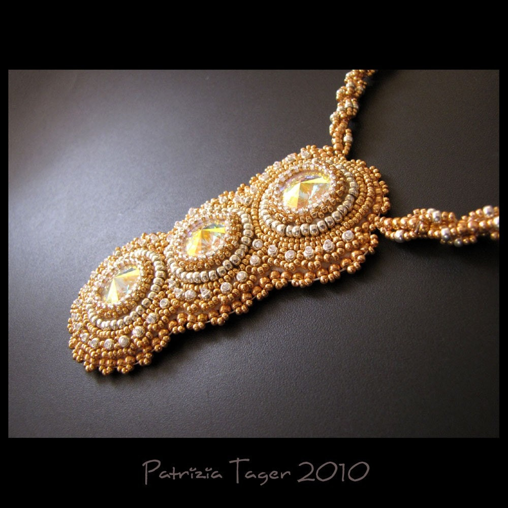 Golden Galaxy - OOAK Necklace