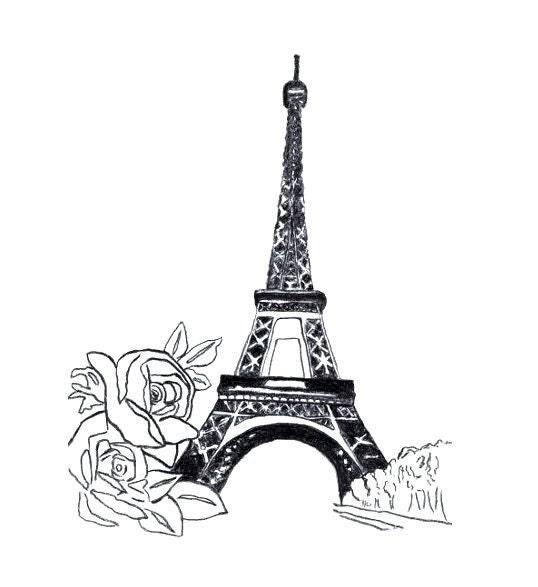 Eiffel Tower Silhouette Drawing Sketch Eiffel Tower Paris