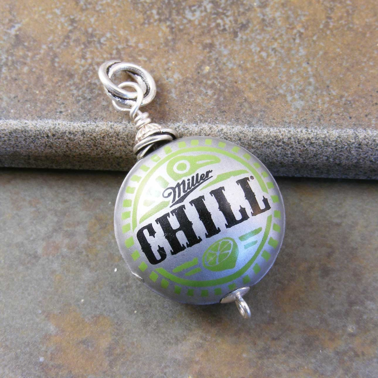 Recycled beer bottle cap pendant by marciejanedesigns on - Beer bottle caps recyclable ...