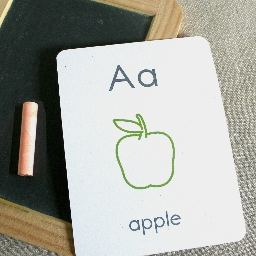 small alphabet flash cards - printable pdf