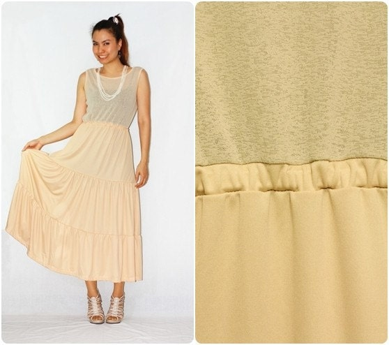 Light Brown Sleeveless Dress Vintage Style - Promotion 50% Off shipping
